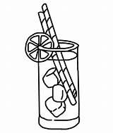 Lemonade Coloring Template sketch template