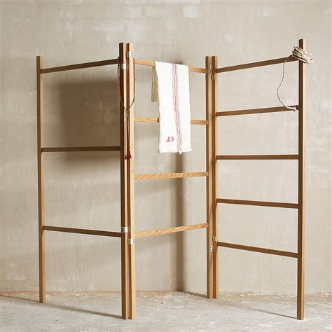 wooden clothes drying rack objects of design 179 folding wooden clothes mad