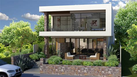 narrow lot plans modern house plans for narrow sloping lots modern house