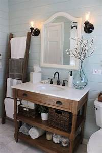 salle de bain rustique 46 idees inspirations photos With salle de bain style campagne chic