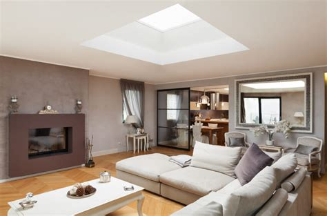30 Naturally Lit Living Rooms With Skylights (pictures