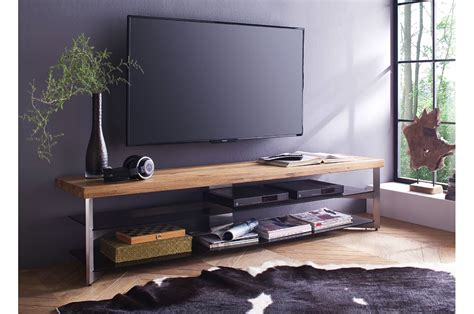 Meuble En Design by Meuble Tv Design Bois Massif Et Verre Cbc Meubles