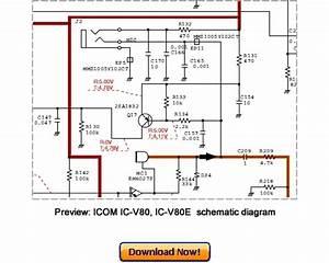 Icom Ic-v80  Ic-v80e Service Repair Manual Download