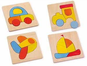 Puzzle de Madera de 14 piezas de los medios de transporte