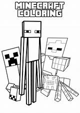 Minecraft Coloring Mob Enderman Colouring Sheets Colour Activity Printable Books Printables Guests sketch template