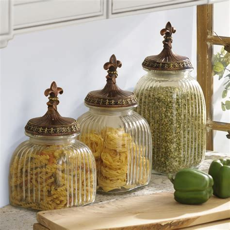 decorative kitchen canisters organize your kitchen in a stylish way with kirkland s