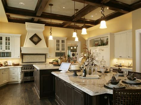 Amazing Kitchen Design With Touches Of Gold by Slightly Rustic Touches With The Center Island I
