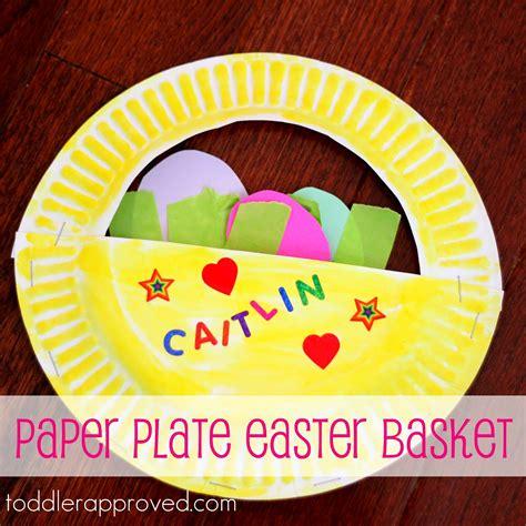 easter baskets arts and crafts ideas paper plate easter basket picasa estudios y arte 7670