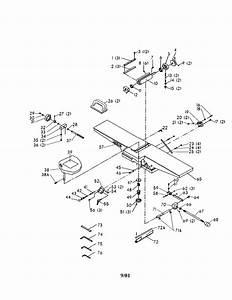 Delta 6 U0026quot  Deluxe Jointer Parts