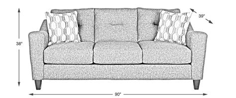 Dimensions Of Loveseat by Dimensions What Size Is Right For My Living Room
