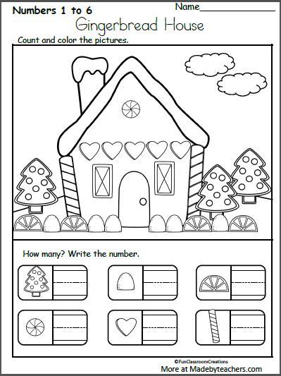 december christmas worksheets  kindergarten