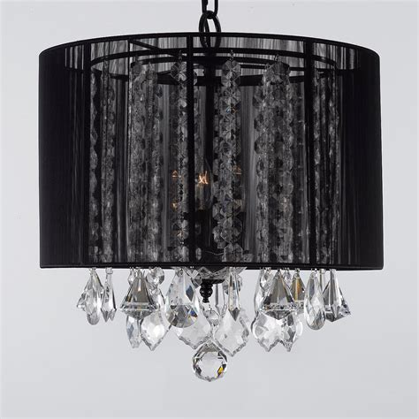 Black Chandelier Shade by G7 Black 604 3 Gallery Chandeliers With Shades