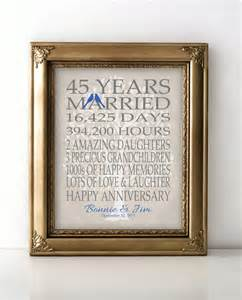 45th wedding anniversary gift 45th wedding anniversary gift for parents sapphire anniversary