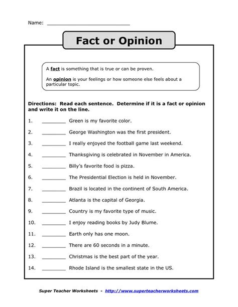 fact opinion worksheet search social studies facts worksheets and