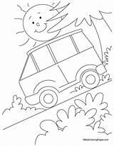 Coloring Slope Steep Submarine Drawing Visit Sketch Transportation Preschool Popular Colouring Bullock Cart sketch template