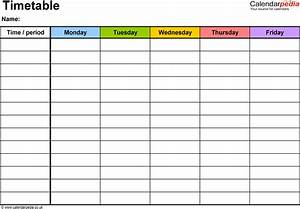 timetables as free printable templates for microsoft word With timetable templates for teachers