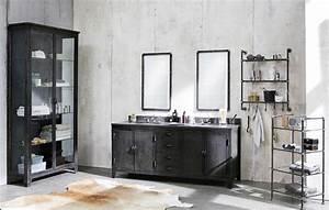 meuble salle de bain industriel With meuble salle de bain indus