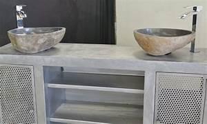 Stunning salle de bain tadelakt gris photos amazing for Salle de bain design avec rangement salle de bain castorama