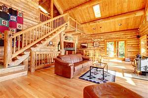 33 stunning log home designs photographs for Log homes interior designs 2