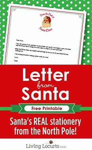 santa39s real stationery type your text and then print With letter from santa with gift