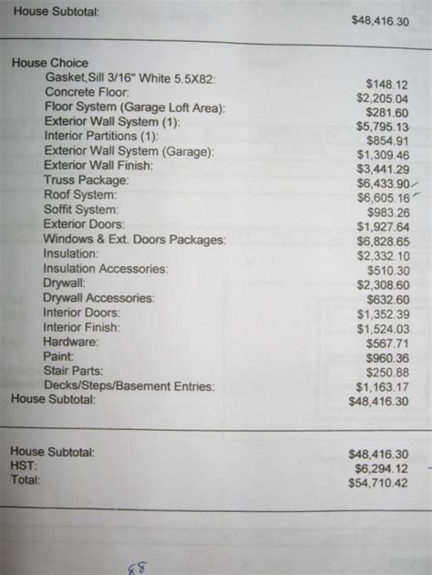 variant  house material  price cost  building