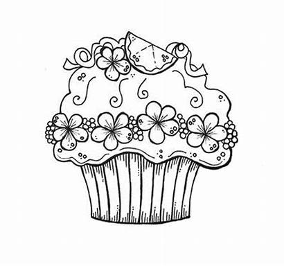 Coloring Cupcake Colouring Pages Cupcakes Birthday Printable