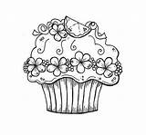 Coloring Colouring Birthday Cupcake Happy Printable Adults Cupcakes Sheet Adult Sheets Children Printables Drawing Chainimage Pantone Clawdeen Wolf Illustrations Dogs sketch template