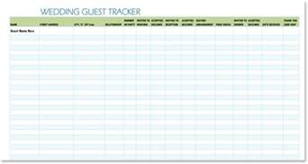 wedding tracker free wedding guest list templates for word and excel track invitations and rsvps