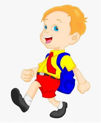 Clipart Boy Clip Cartoon Bag Student Explore