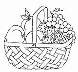 Coloring Fruit sketch template