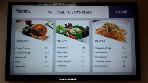 digital menu board templates free digital signage templates novisign s menu board templates a walk through of