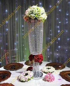 Cm tall crystal chandelier flower stand for wedding