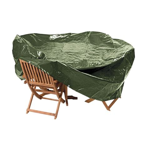 heavy duty oval patio set cover green garden furniture