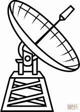 Coloring Satellite Dibujos Astronomy Colorear Radio Antenas Sheet Dibujo Printable Radioteleskop Satelite Telescopio Kolorowanka Honeycombe Gratis Pinturas Buscar Clipart Visitar sketch template