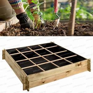 Carre Potager En Bois Pas Cher : carr potager bois trait 120x120cm g otextile carr ~ Dailycaller-alerts.com Idées de Décoration