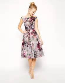 printed bridesmaid dresses asos asos beautiful floral printed midi prom dress at asos