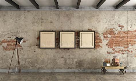 room  blank vintage frame stock illustration