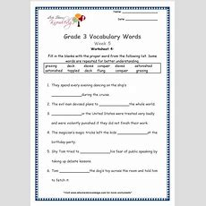 Grade 3 Vocabulary Worksheets Week 5  Lets Share Knowledge