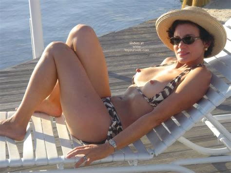 Topless On Beach Chair March Voyeur Web Hall Of Fame