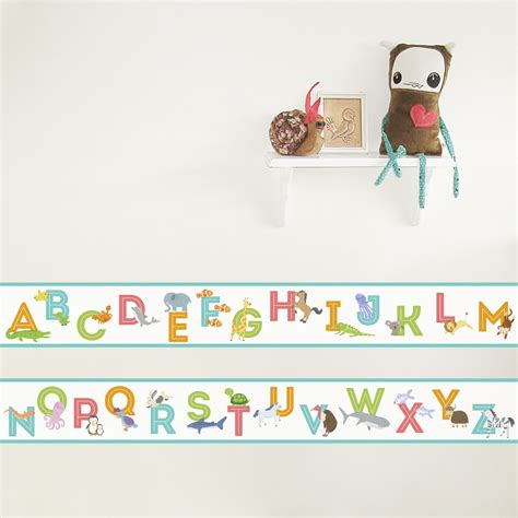 Animal Alphabet Wallpaper Border Removable Wall Border
