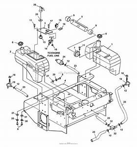 Bunton  Bobcat  Ryan 942211  52 Side Discharge Parts Diagram For Fuel Tanks