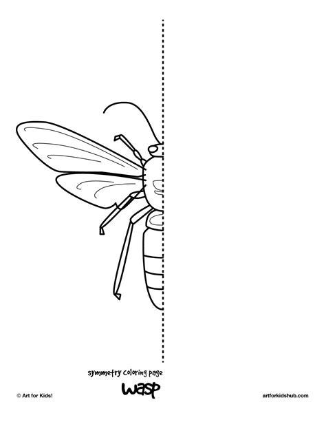 coloring pages bug symmetry art  kids hub