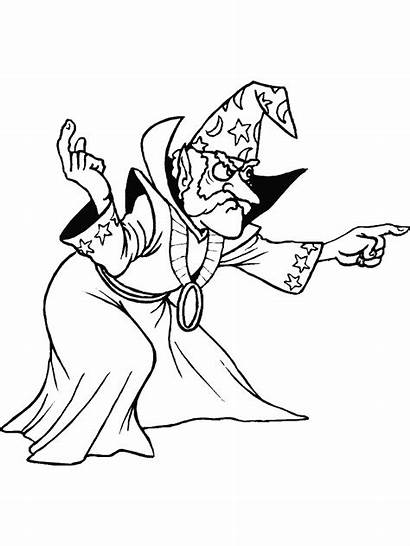 Magician Coloring Pages Picgifs