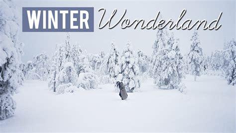 winter wonderland luosto finland eurotrip day