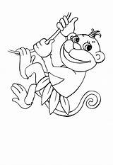 Monkey Coloring Pages Printable Monkeys Printables Singe Dessin Simple Easy Sheets Animal Pagesfree Popular Getcoloringpages Bestcoloringpagesforkids Coloringfolder sketch template