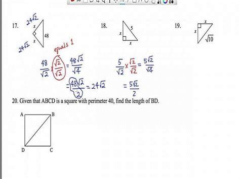45 45 90 Triangle Worksheet Homeschooldressagecom