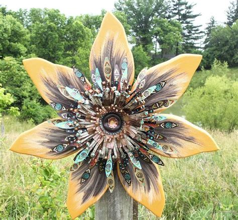 Sunflower Wall Decor Outdoor Art Orange