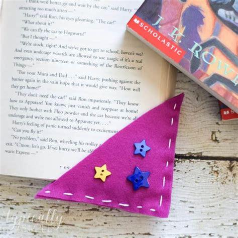 corner bookmarks easy beginner sewing felt craft  kids