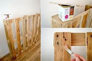 Palette Bois Pas Cher : tutoriel tete de lit tete de lit sur a little market tete ~ Premium-room.com Idées de Décoration