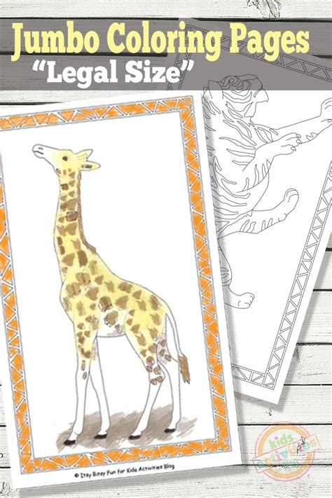 jumbo coloring pages  kids printables kids activities